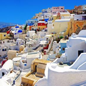 em Santorini - Grécia