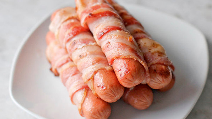 Bacon wrapped Pork Sausage