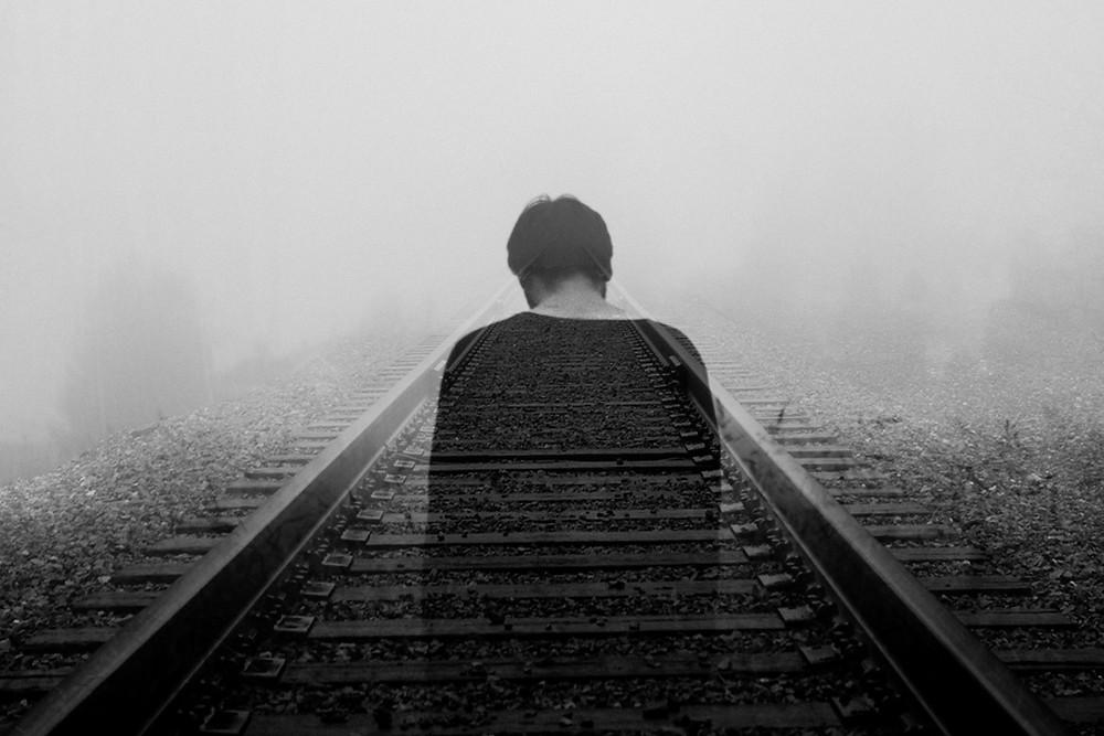 man on track