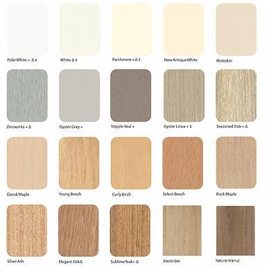 Laminex Commercial Colour Palette