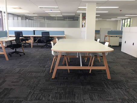 bright and spacious new office