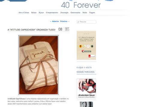 Atitude no Blog 40 Forever!