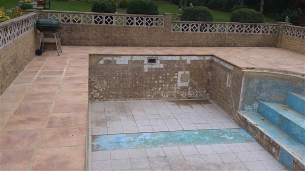 Pool being refurbished