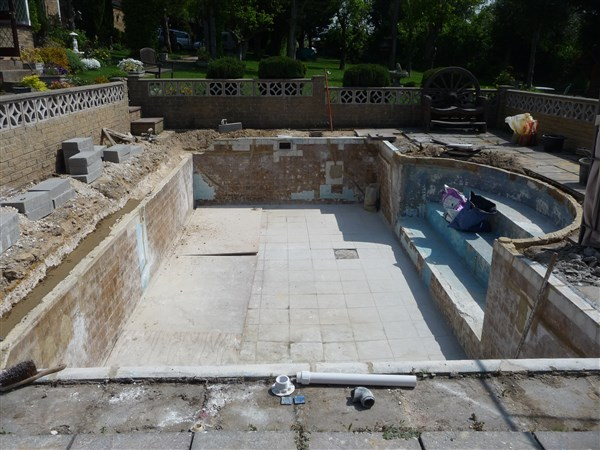 Pool refurbishment project