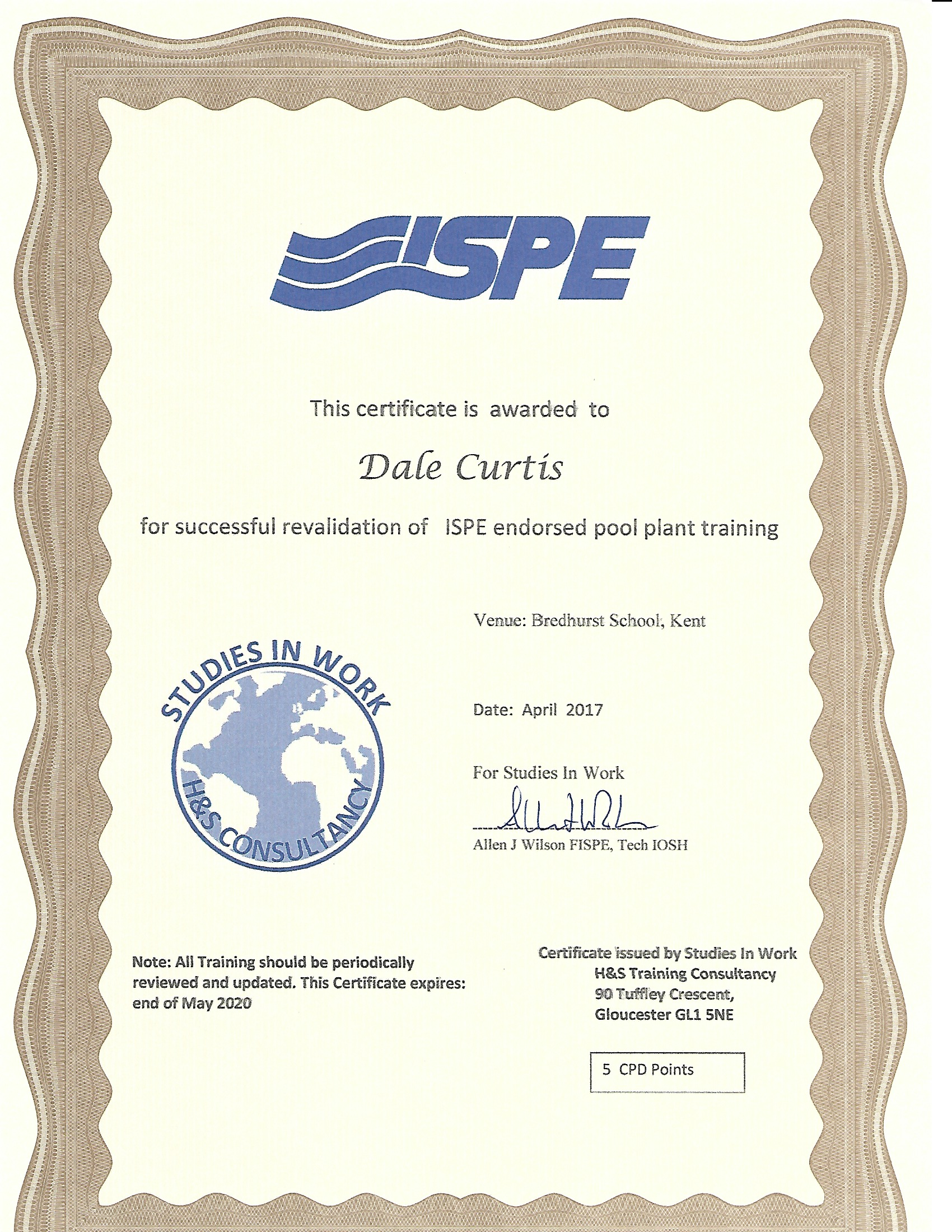 ISPE Pool Plant Training 2017