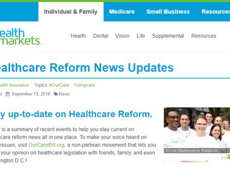 Healthcare reform news updates....