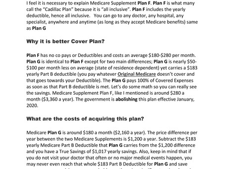 Medicare G Supplement Plans What you need to know...