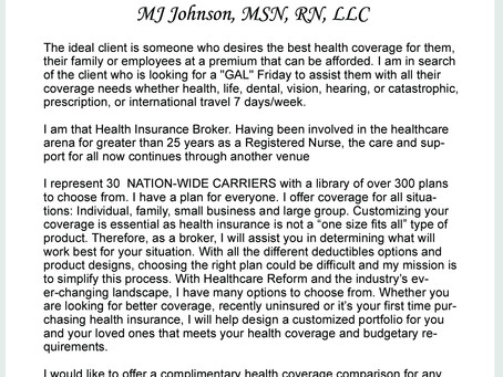 Welcome to Healthcare Solutions Team with MJ Johnson