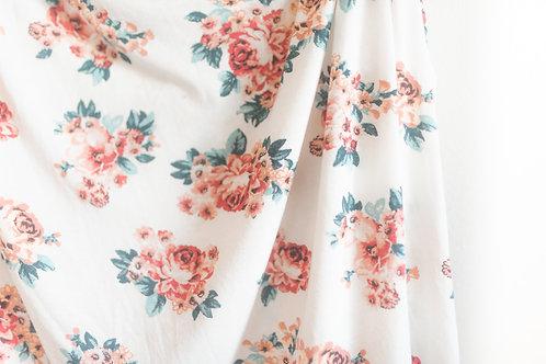 Summer Knit Floral Swaddle