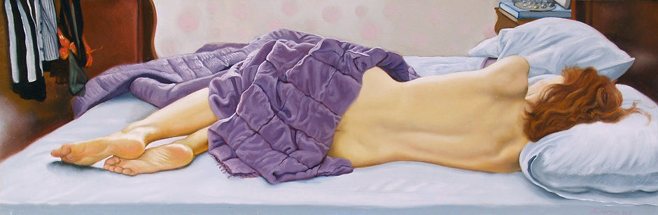 Fanny sleeping backview 10 x 30 ins. jpg.jpg