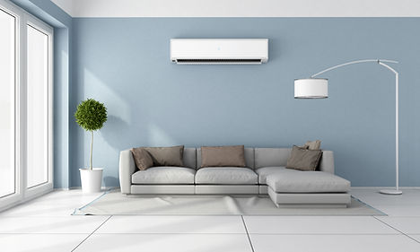 Residential air conditioner keeping homes cool