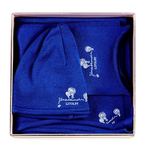 """CAP & SCARF & SHAWL """"royal blue"""""""
