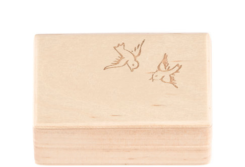"KEEPSAKES BOX off white ""Bird"""