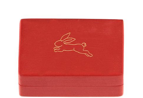 "KEEPSAKES BOX red ""Hare"""