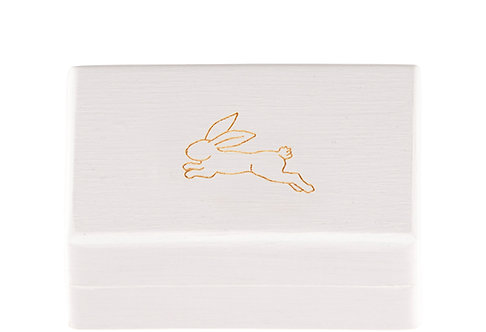 "KEEPSAKES BOX white  ""Hare"""
