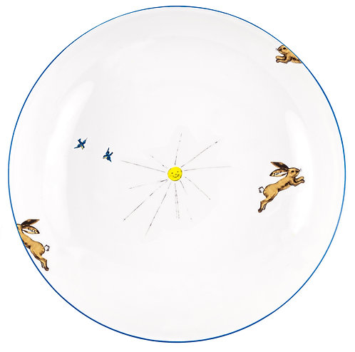 """LM-3-DINNER PLATE """"Hare"""""""