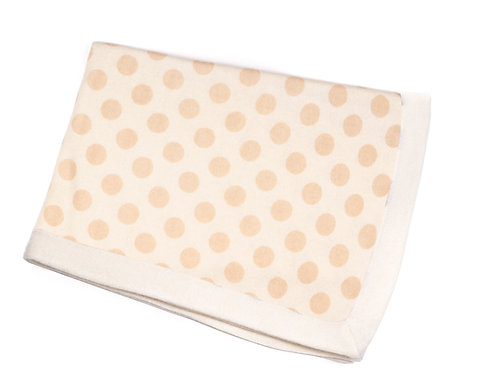 "CASHMERE BLANKET DOTS ""off white-hand knitted"""
