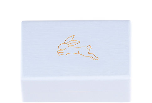"KEEPSAKES BOX blue ""Hare"""