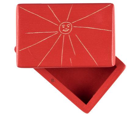 """KEEPSAKES BOX red """"Sun"""""""