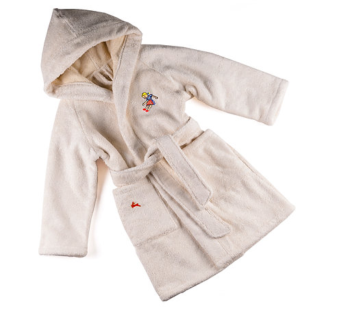 "DOLL BATHROBE  ""off white"""