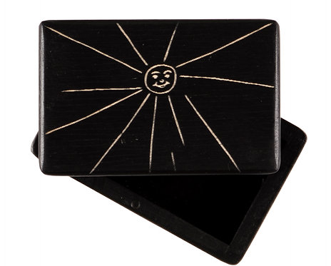 "KEEPSAKES BOX black  ""Sun"""