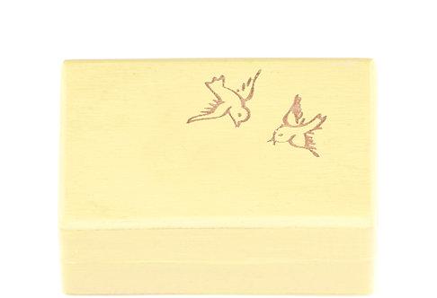 """KEEPSAKES BOX yellow """"Bird"""""""