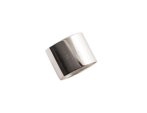 "NAPKIN RING  ""Sun"" 999 silver plated"