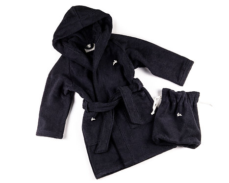 "BATHROBE 2 pcs ""black"""