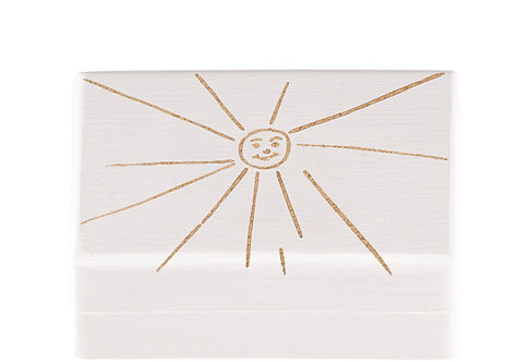 "KEEPSAKES BOX white ""Sun"""