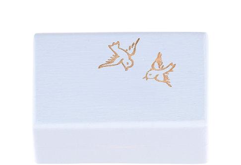 """KEEPSAKES BOX blue """"Bird"""""""