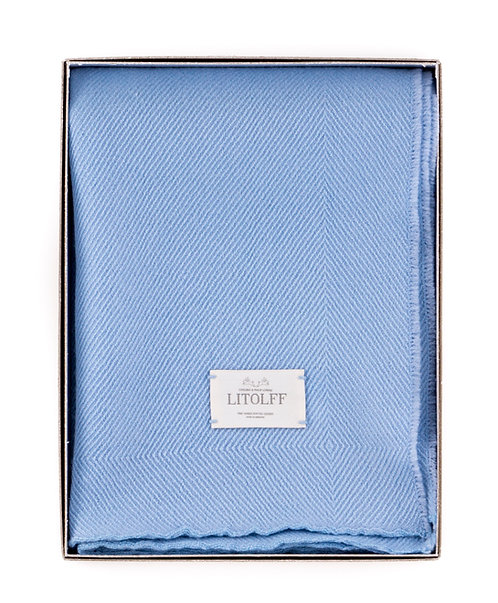 Handwoven BLANKET blue