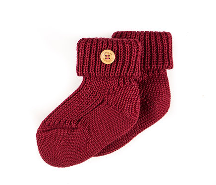 "SOCKS color ""wine red"""