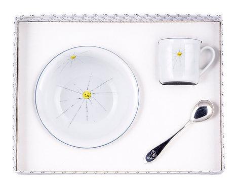 "BOX 5-M-T BOWL & CUP & SPOON ""SUN"""