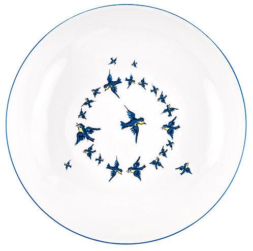 """LM-3-DINNER PLATE """"Bird"""""""