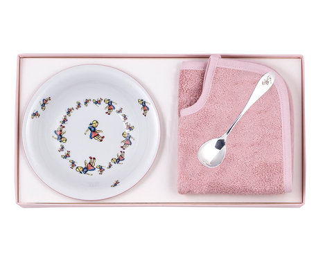 "BOX 11.2-S-T BOWL & SPOON & BIB ""GIRL"""