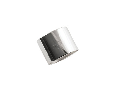 "NAPKIN RING  ""Sun"" stainless steel"