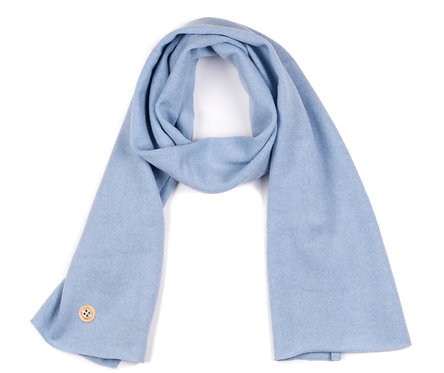 "CASHMERE SCARF color ""blue"""