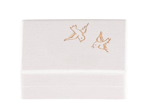 """KEEPSAKES BOX white """"Bird"""""""