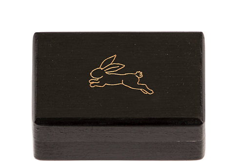 "KEEPSAKES BOX black  ""Hare"""