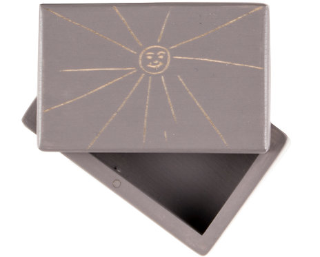 "KEEPSAKES BOX grey ""Sun"""