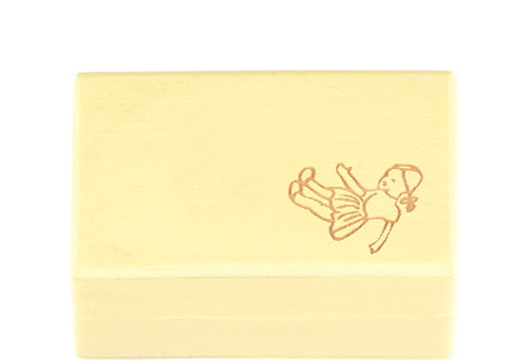 "KEEPSAKES BOX yellow ""Doll"""
