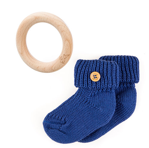 "SOCKS Set 2 pcs ""royal blue"""