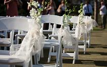 wedding ceremony - white americana chairs