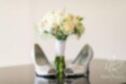 bride bouquet - white roses