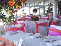 wedding reception - pink - orange