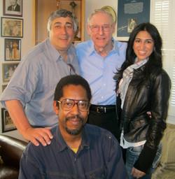 Elliott, Bill Sharman & crew