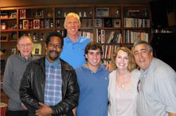 Elliott, Bill Walton, Bill Sharman & crew