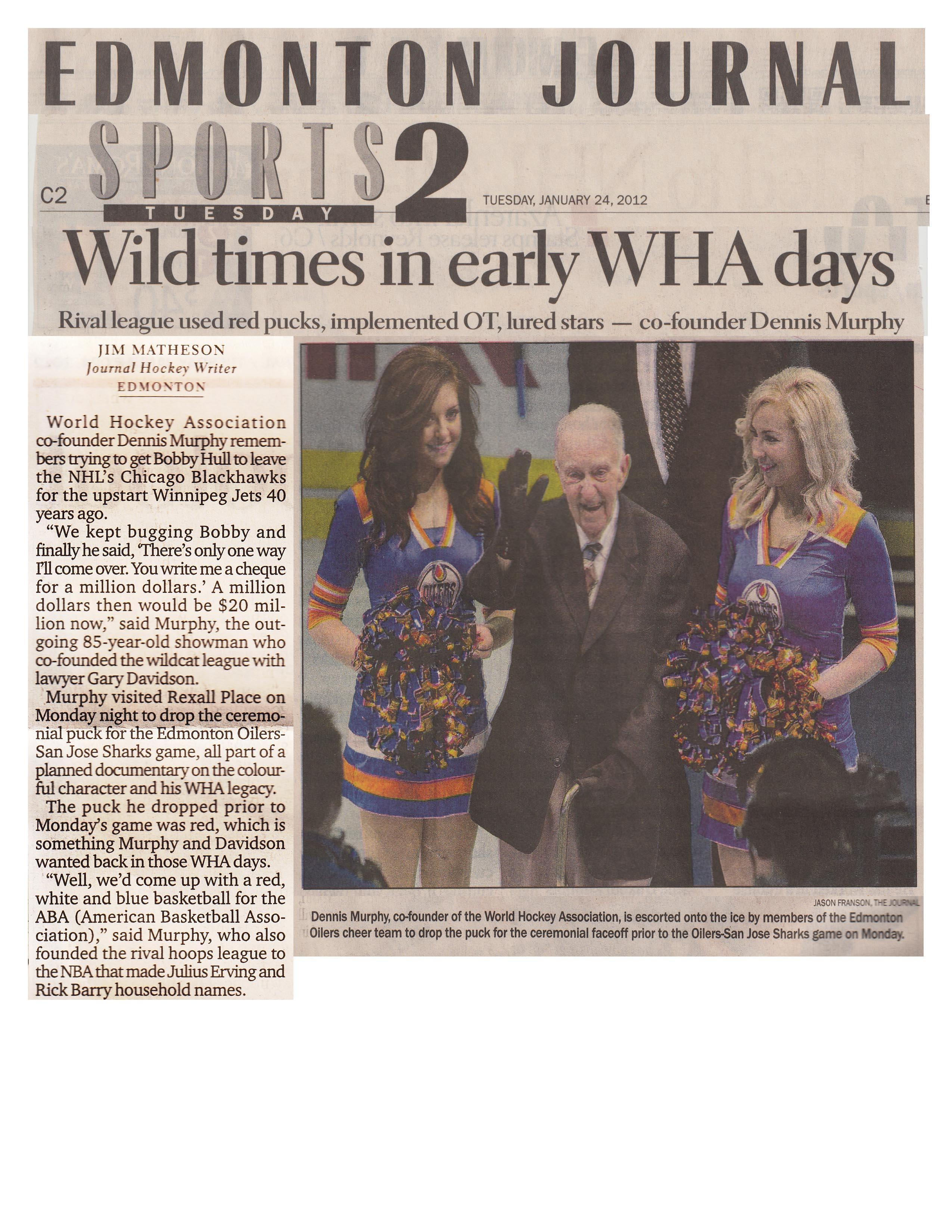 Edmonton Journal article - Page 1