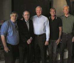 Elliott, Jerry West, Bill Sharman & crew