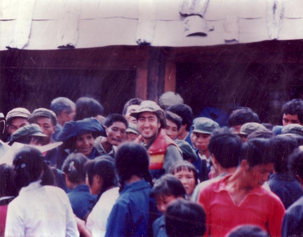 Elliott in mainland China 1986